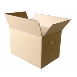 Caja de Cartón Marrón 60 x 40 x 40 c/asas